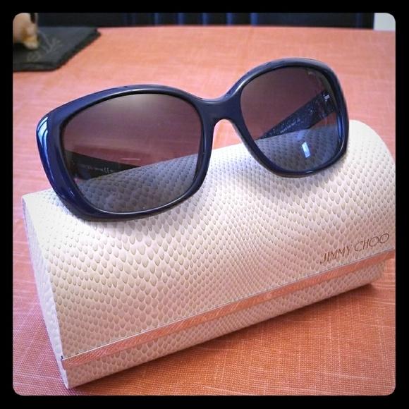 bc9067b9b54 Jimmy Choo Accessories - Authentic Jimmy Choo Kalia dark blue sunglasses